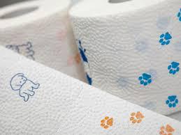 paw print tissue paper toilet paper print wooftalk