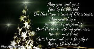 may you and your family be message for family