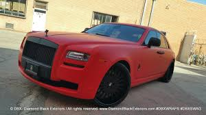 nissan gtr matte black and red project rolls royce ghost wrapped in matte red by dbx diamond
