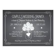 couples bridal shower chalkboard jar rustic couples wedding shower card zazzle