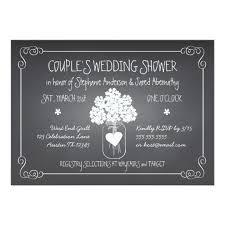co ed bridal shower chalkboard jar rustic couples wedding shower card zazzle