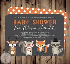 forest friends baby baby shower invitation baby shower invite