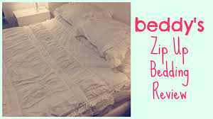 bed sheets review beddy s zip up bedding review gillian at home youtube