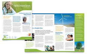 free church brochure templates for microsoft word church newsletter sels evangelical christian church