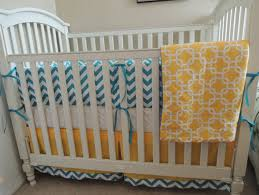 mod teal yellow baby bedding set babylovin
