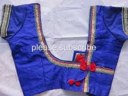 colours of blouse designs with oneside patch and butterfly