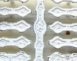 Shabby Chic Cabinet Pulls by 2 Cabinet Drawer Pulls Shabby Chic White Handles Dresser