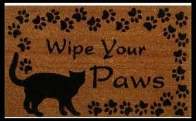Wipe Your Paws Dog Doormat Funny Humorous Doormats