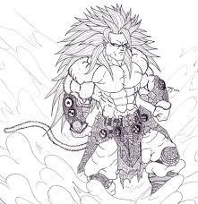 dragon ball z coloring page goku super saiyan 5 dragon ball z