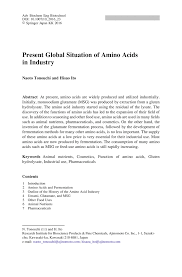 french essay sample present global situation of amino acids in industry springer close plain text