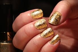 26 innovative gold leaf nail art u2013 slybury com