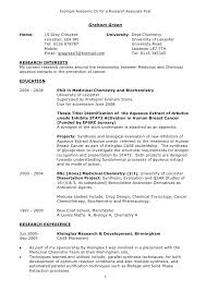 Resume Template 2014 Academic Resume Examples Research Assistant Cv Research