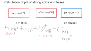 ph and poh calculation for strong acids and bases youtube