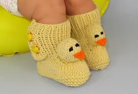 adorable knitted baby booties that make shower gifts