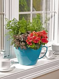 decoration interesting colorfull giant teacup planter self