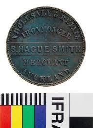 penny s token 1 penny s hague smith ironmonger auckland new zealand