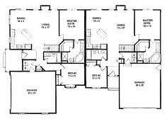 duplex plan chp 33733 at coolhouseplans com retirement home