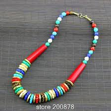 aliexpress bead necklace images Tnl253 tibetan colorful handmade knotted bone beads necklace boho jpg