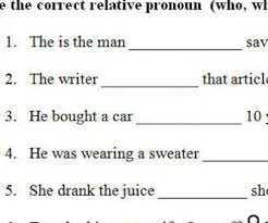 18 free adjective clauses worksheets