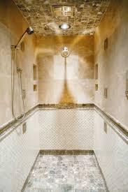 bed u0026 bath crema marfil with emperador dots basket weave tile and