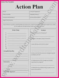 action plan templates word