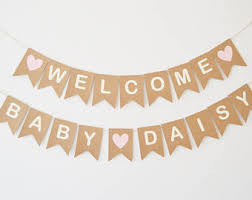 Welcome Baby Home Decorations Welcome Baby Banner Etsy