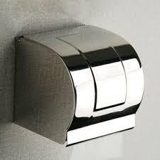 luxury stainless steel chrome toilet paper tissue roll holders box