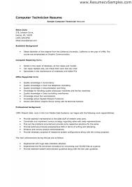Resume Technician Maintenance Resume Examples Systems Administrator Sample System Pertaining To