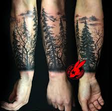 forest silhouette tree silhouette forest pine arm sleeve