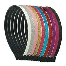 goody bands for teeth 3 goody headbands black and silver glitter shiny plastic dressy