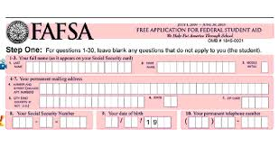analyzing questions on the fafsa financial aid form