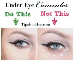 apply concealer in a triangle shape underneath the eyes to cover up dark circles and to
