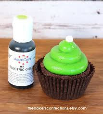electric lime green americolor food coloring for frosting 3 00