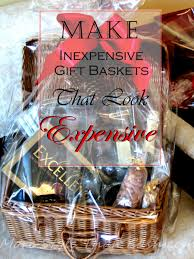 how to make a gift basket make inexpensive gift baskets that look expensive