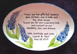 parents gift wedding wedding gift for parents plate thank you and