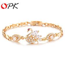 bracelet jewelry designs images Opk vintage swan design link chain woman bracelets fashion gold jpg