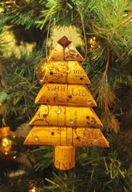 easy wine cork craft cork ornament wine holidays and cork