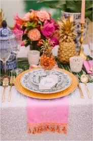 Wedding Table Setting 57 Cheerful Tropical Wedding Table Settings Happywedd Com