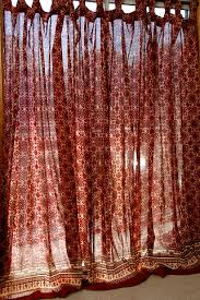 Moroccan Style Curtains Moroccan Inspired Ruby Kilim Curtains Add Bold Color To A Room