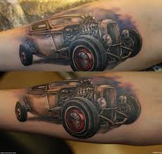 rod car tattoo design