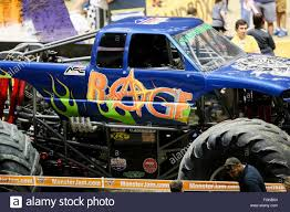 monster truck jam com new orleans la usa 20th feb 2016 rage monster truck in action