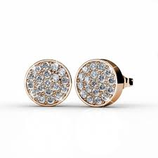 nelly earrings nelly 18k gold swarovski pave studs earrings jewelry