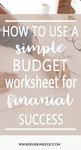 Spreadsheets For Beginners Best 20 Budgeting Worksheets Ideas On Pinterest Budget