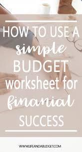 How To Make Worksheets Best 20 Budgeting Worksheets Ideas On Pinterest Budget