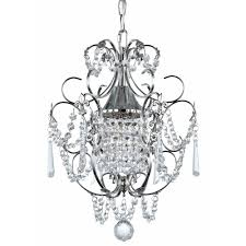 crystal mini chandelier pendant light in chrome finish 2233 26