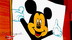 draw mickey mouse face easy color kids disney