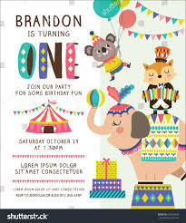 kids birthday party invitation card circus stock vector 640763446