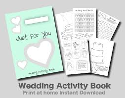 kids wedding activity book print at home mint wedding toolz
