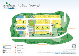 Map Central Park North Coast Holiday Parks Ballina Central Map