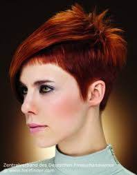 short haircuts for women with clipper short women s hairstyle with clipper cut sides spiky red hair